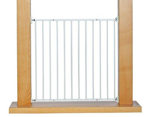 Impag Türschutzgitter Absperrgitter zum Schwenken 88 - 140 cm Astor Weiß