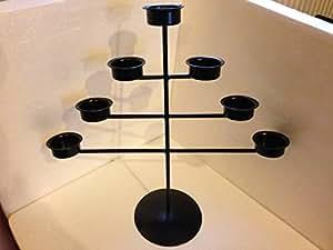7Triagle/photophore pour bougie chauffe-plat en métal en forme d'arbre