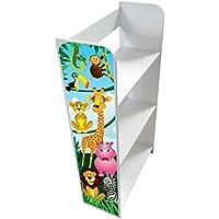 Preisvergleich für Unbekannt Regal für Kinderzimmer Dschungeltiere, Regal für Spielzeug Aufbewahrungsregal, Spielzeugregal, Kinderregal, Spielzeugablage