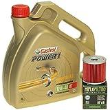 Cambio de aceite Set 4 litros Castrol SAE 10 W de 40 Power 1 4t Incluye