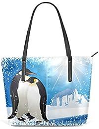 Damen Mädchen Spaß Süß Pinguin Motiv Geldbörse Münzbeutel Kartenfach