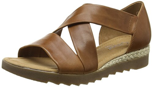 Gabor 42.711.55 Damen Durchgängies Plateau Sandalen ,Brown (Brown Leather/Jute) ,39 EU EU (Schuhe 55 Damen Toe Open)