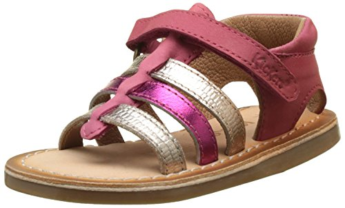 Kickers Dixmilliard, Sandales Bébé Fille Rose (Rose Metal Fuschia)