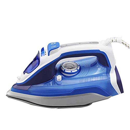 Jiahe Mini Electric Iron Home Wired Steam Iron 2000 W Ceramic Soleplate Corded Electronic Steam Iron for Home and Hotel,Blue