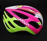 Casco più specchio staccabile lente mountain bike da corsa casco da equitazione con occhiali rete a rete insetto Rosa verde