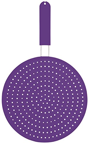 KitchenCraft Colourworks Silicone Splatter Screen, 28 cm - Purple