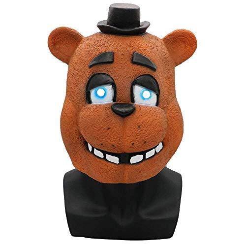 YaPin Teddy Bear Midnight Harem um den Charakter Kopfbedeckung Halloween Maske Kostümparty männliche und weibliche Party Maske