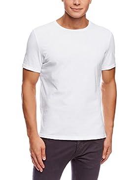 oodji Ultra Hombre Camiseta Básica (Pack de 5)