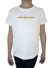 Antartic Ocean Niño Niños Camiseta Cuello Redondo Blanco Algodón Manga Corta Boys Kids T-shirt White