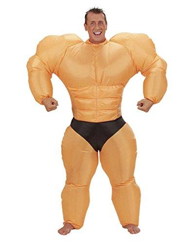 Aufblasbares Bodybuilder Muskelprotz Kostüm für (Kostüme Bodybuilder Aufblasbare)