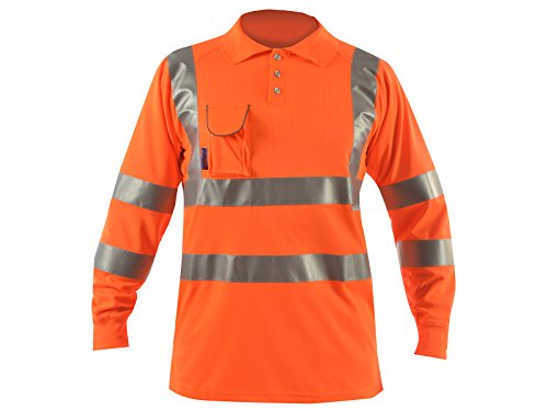 Price comparison product image The British Safetywear Co Hi Vis Lightweight Breathable Polo T-Shirt with Long Sleeves (4XL)