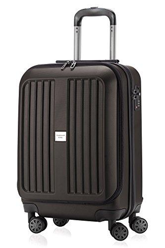 HAUPTSTADTKOFFER - X-Berg - Handgepäck Koffer Trolley Hartschalenkoffer, TSA, 55 cm, 42 Liter, Graphite