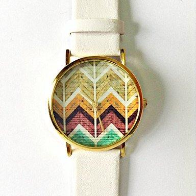 donne-orologi-chevron-sulla-vigilanza-di-legno-vigilanza-dellannata-del-cuoio-di-stile-vigilanze-del