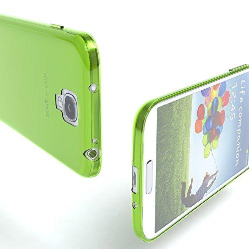 Samsung Galaxy S4 / S4 Neo Hülle - EAZY CASE Ultra Slim Cover TPU Handyhülle Matt - dünne Schutzhülle aus Silikon in Dunkelblau Clear Grün