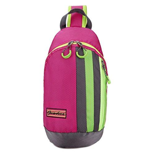 BULAGE Beutel Mode Natur Brusttasche Messenger Freizeit Sport Leicht Einfach Männer Und Frauen Reisen Nylon Wasserdicht Pink