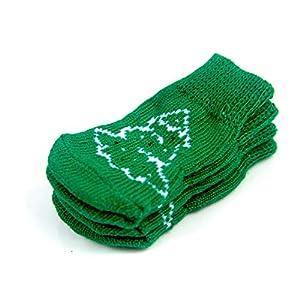 Arbre de Noël Motif Animaux Chaussettes ANTIDÉRAPANTS Chaussettes de Noël Anti-Sales Chaussettes Chaudes Sock Automne Hiver pour Chien M 1pc