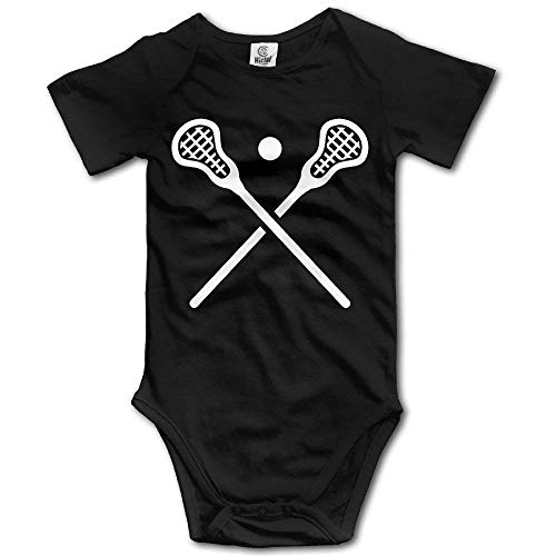 Hat New Crossed Lacrosse Sticks Baby Onesie In 4 Sizes