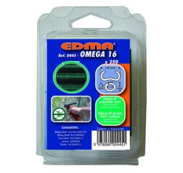 Agrafes Omega 16 galva vert parquet de 250 44501 EDMA