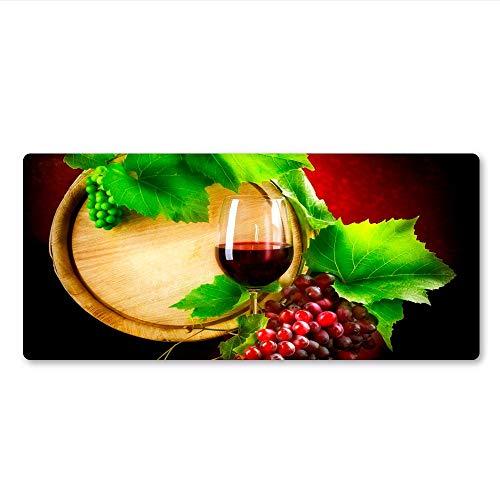 800 * 300 * 3mm Lebensmittel und Wein Mauspad Gummi waschbar Notebook PC Spiel Pad wasserdicht rutschfeste Desktop Computer Sperre Spiel Spieler Tastatur Mauspad Weihnachtsgeschenk