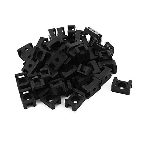 sourcingmapr-supporto-50-pc-nylon-tipo-cavo-base-monte-filo-nero-15-x-10-x-7mm