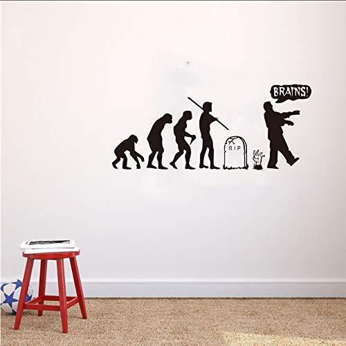 Qwerlp Heißer Verkauf Menschliche Evolution Zombie Wandtattoo Nordischen Stil Vinyl Aufkleber Kindergarten Kinderzimmer Tapete Dekor Aufkleber ()