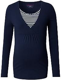 ESPRIT Maternity T-Shirt Nursing Ls Yd O84760, Camisetas de Manga Larga Premamá para Mujer