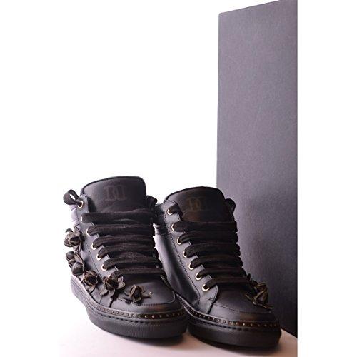 Dsquared2 Dsquared chaussures baskets sneakers hautes femme en cuir noir Noir