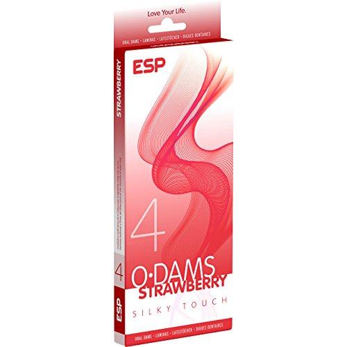 ESP Oral Dams «Strawberry» - 4 Latex-Schutztücher