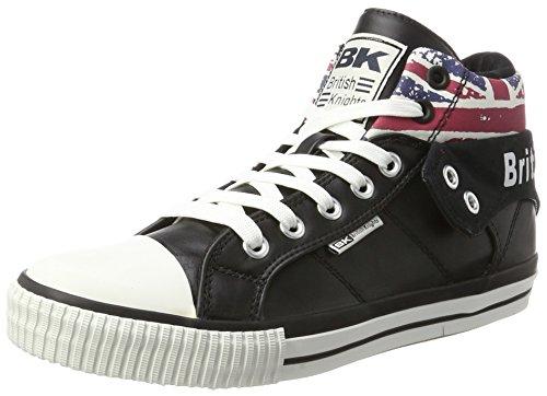 Tops Skater High Schuhe (British Knights Herren ROCO Hohe Sneaker, Schwarz (Textile Black/Union Jack), 43 EU)