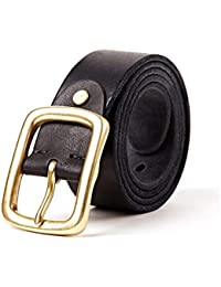 Männer Leder Gürtel Mode Design Cinto Für Männer Echtem Rindsleder Jean Bügel Der Braun Farbe Pin Schnalle Gürtel Bekleidung Zubehör