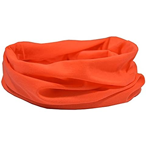 ORANGE FLUORESCENT HIGH VISABILITY NECKWARMER/SNOOD - RUFFNEK® HEADWEAR MULTI SCARF - One Size - Sport Bandana Per Cani