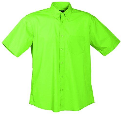 James & Nicholson Herren Men's Promotion Shirt Short-Sleeved Sporthemd, Grün (Lime-Green), X-Large -