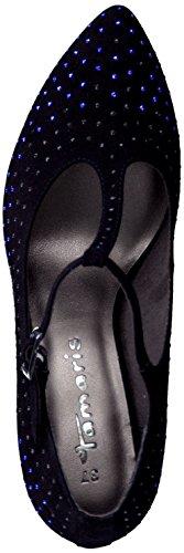 Tamaris Ankle Strap Pumps nero con paillettes tacco alto stiletto tacco 1-24401-23 001 nero Black