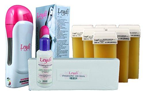 Leydi EASY Wachspatronenset Honig - besonders schnelle Haarentfernung mit Warmwachs zu Hause - Mit Wachs-produkten Haarentfernung