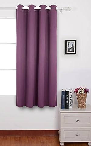 Deconovo Rideau Occultant de Salon à Oeillets 140cm x 175cm Isolant Thermique Violet