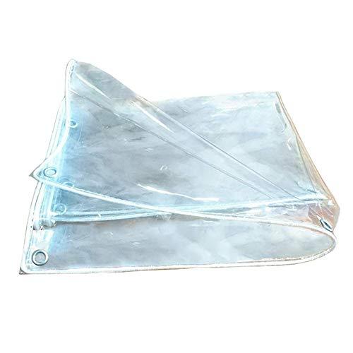 M-Y-L Planeklare Plane, verdicken PVC-weiches Plastikgewebe-wasserdichte Vorhang-Garten-Gewächshaus-Isolierungs-Folie für im Freien, 0.3mm,1.8 * 2m (Uv-klare Folie)