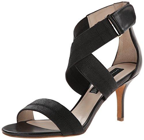 Criss Cross Wedge Sandal (STEVEN by Steve Madden Women's Vaale Platform Sandal, Black/Multi, 6.5 M US)