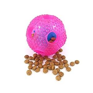 Jouet interactif pour chien Boule IQ Treat Distributeur de nourriture pour chien Balle & # Xff0C?; pour chiens de petite/moyenne/grande & # Xff0C?; Chien puzzle lente Feeder fabriqué par Themoplastic non toxiques en caoutchouc (Plus rigide/durable/Il A