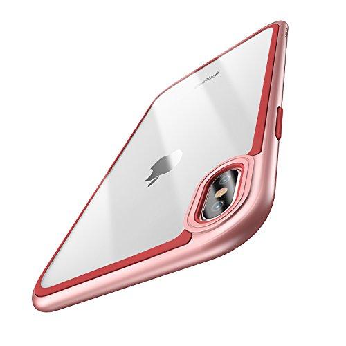 ESR Cover iPhone XS, Cover iPhone X, Custodia con Telaio Resistente con Cuscinetto Interno Flessibile [Antiurto,Anti scivolo,Antigraffio] [Protezione Rinforzata per Fotocamera] [Protezione sul Retro in Vetro] per Apple iPhone XS/X da 5.8 Pollici.