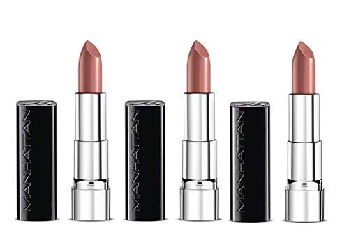 Manhattan Moisture Renew Lipstick, cremiger Lippenstift, feuchtigkeitsspendend, intensiv, langanhaltend (3er Pack) (410 Coral Kiss) -