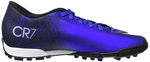 Nike Mercurial Vortex Ii Cr Tf, Scarpe da Calcio Uomo, Nero Blu (Deep Royal Blue/Metallic Silver-Racer Blue-Blue)
