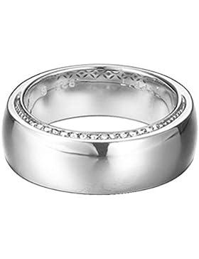 Esprit Damen-Ring JW51457 925 Silber rhodiniert Zirkonia weiß Brillantschliff Gr. 57 (18.1) - ESRG92368A180