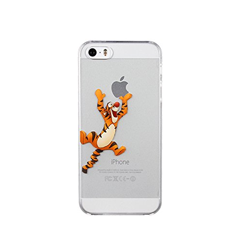 Ronney Coque souple de protection en TPU Motif Disney Winnie l'ourson et ses amis Pour Apple Iphone 5/5S/SE 6/6S & 6+/6+S Transparent, plastique, Tigre, APPLE IPHONE 6/6S