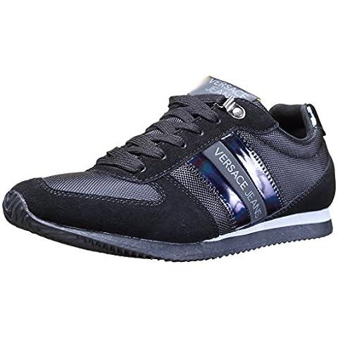 Versace Jeans Nylon Lace Hombre Zapatillas Negro
