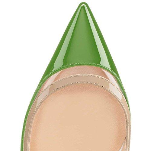 NANCY JAYJII - Femmes - Escarpins - Cuir véritable - Plusieurs coloris - Talon aiguille - Bout pointu fermé Vert