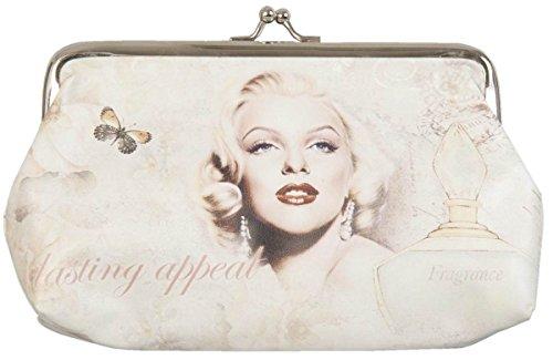 (Clayre & Eef FAP0095-6 Börse Geldbörse Kosmetiktasche Etui Portemonnaie Geldbeutel Frau Dame ca. 11 x 18 cm)