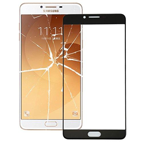 AUSSENGLASOBJEKTIV Cellphone ERSATZTEILE XZS Frontglas-Außenglaslinse für Galaxy C9 Pro / C900 (Schwarz) (Farbe : Black) -