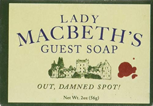 Shakespeare Lady Macbeth's Guest Soap - 1 Mini Bar of Soap - Made in The USA (Seife Mini-bar)