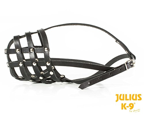 Julius-K9 MUSERUOLA MUZZLE LEATHER LIGHT LARGE – Museruola in morbida pelle per cani di taglia media e grande, disponibile in quattro taglie