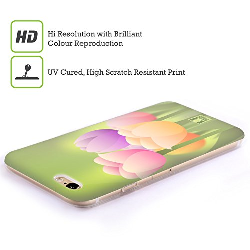 Head Case Designs Daisy Fiori Romantici Cover Morbida In Gel Per Apple iPhone 7 Plus / 8 Plus Tulipano